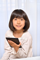 Girl playing in the tablet Stock photo [4963746] have