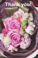 花束のメッセージカード