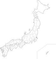 Japan map (blank map) [4970721] Map