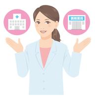 Woman doctor pharmacist white coat Medical