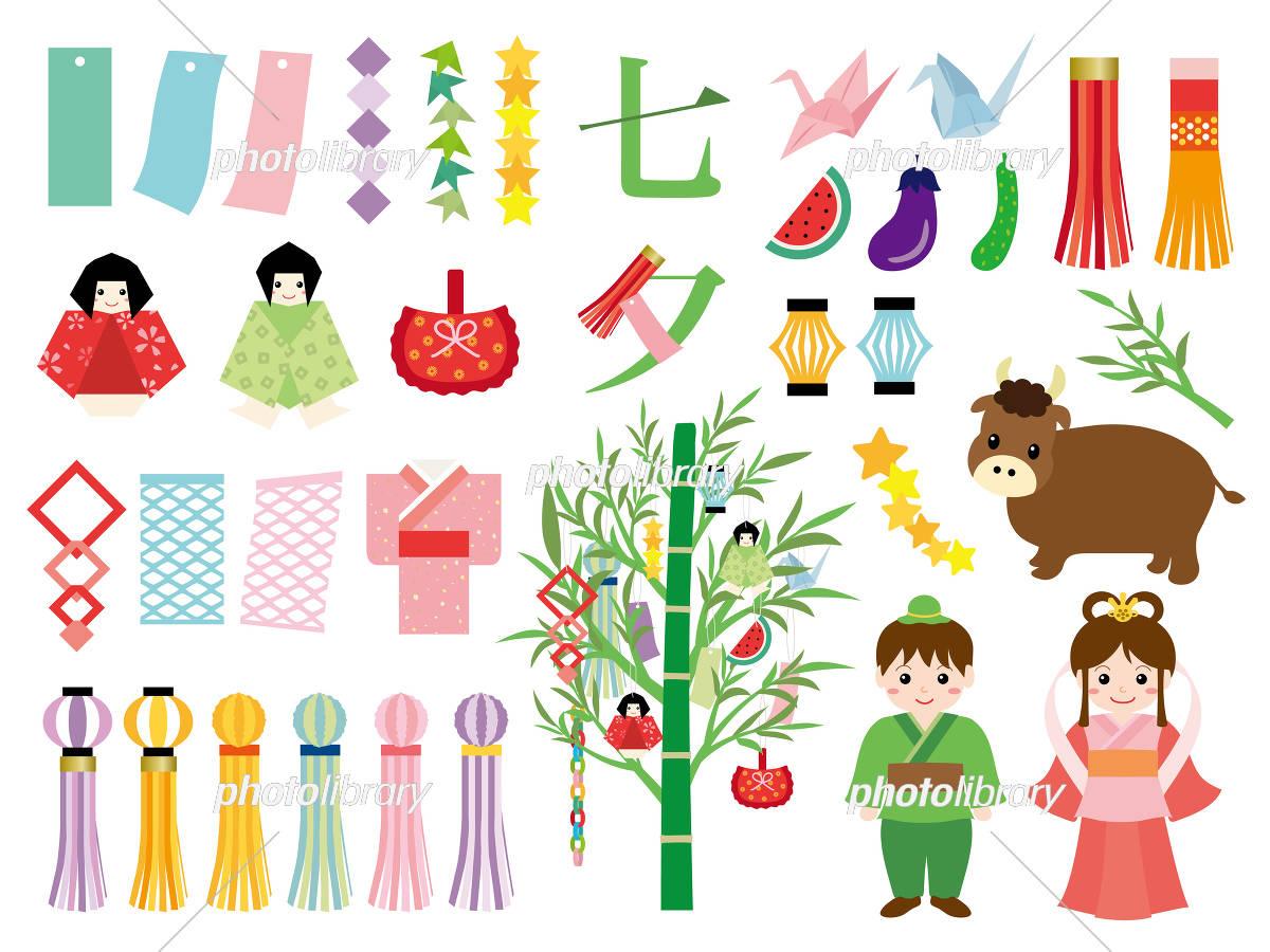 七夕 イラスト素材セット イラスト素材 5055786 フォトライブ