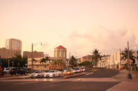 Dusk of downtown Tumon of Guam Stock photo [5056049] Guam