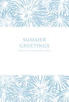 Firework pattern hot summer template [5060781] Summer