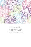 Firework pattern hot summer template [5060944] Summer