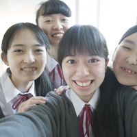 Smiling girls students Stock photo [5067088] Middle