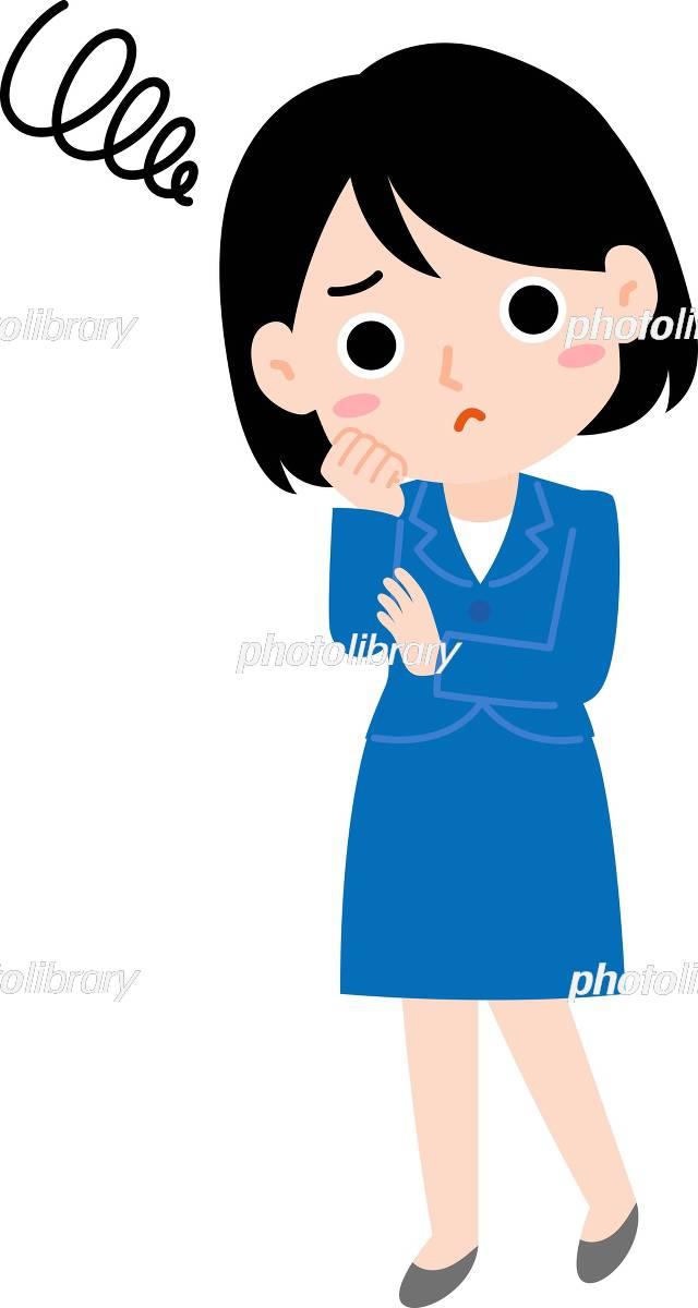 困っているスーツの女性 イラスト素材 5146638 フォトライブラリー
