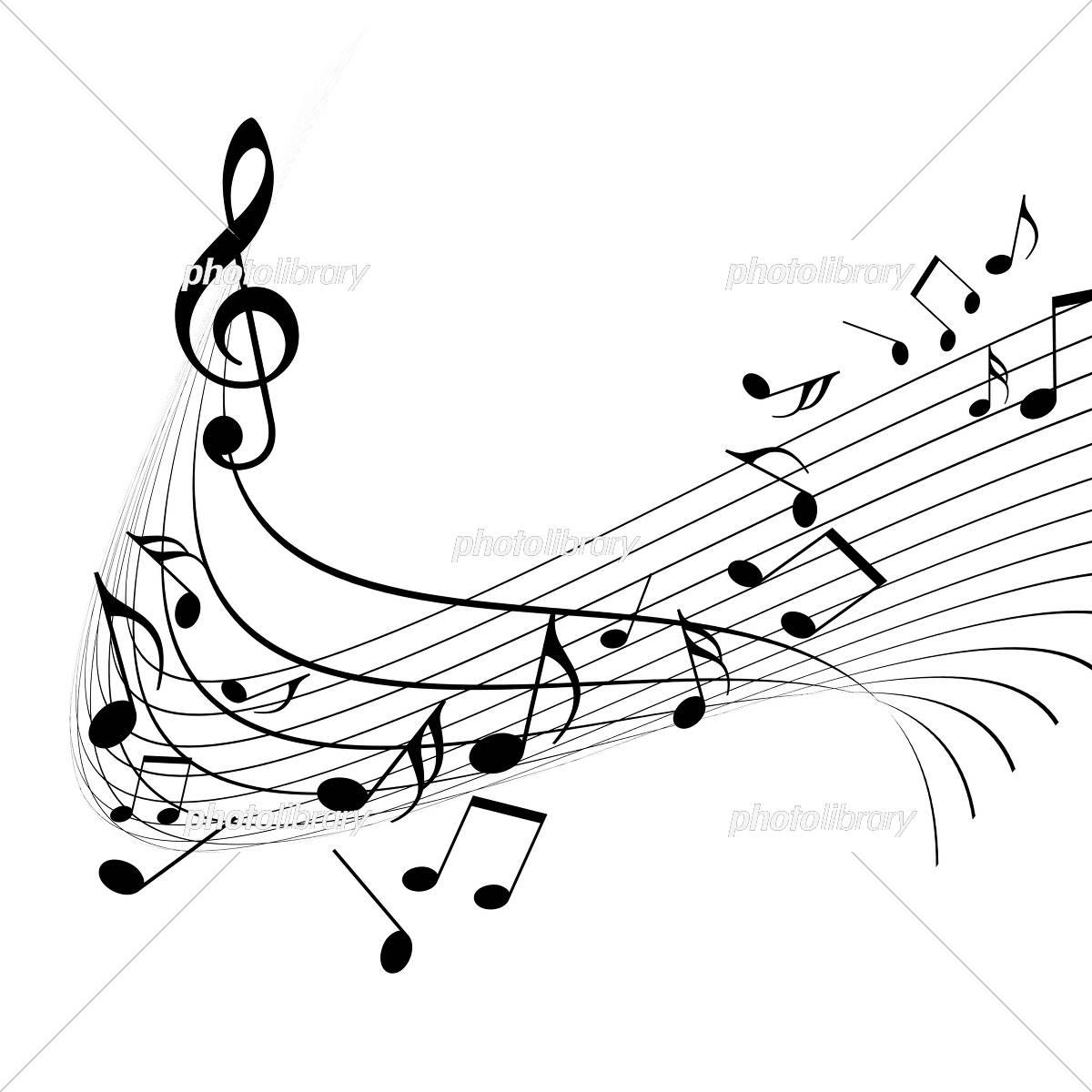 五線譜 音楽 譜面 ミュージック イラスト素材 [ 5150481 ] - フォト