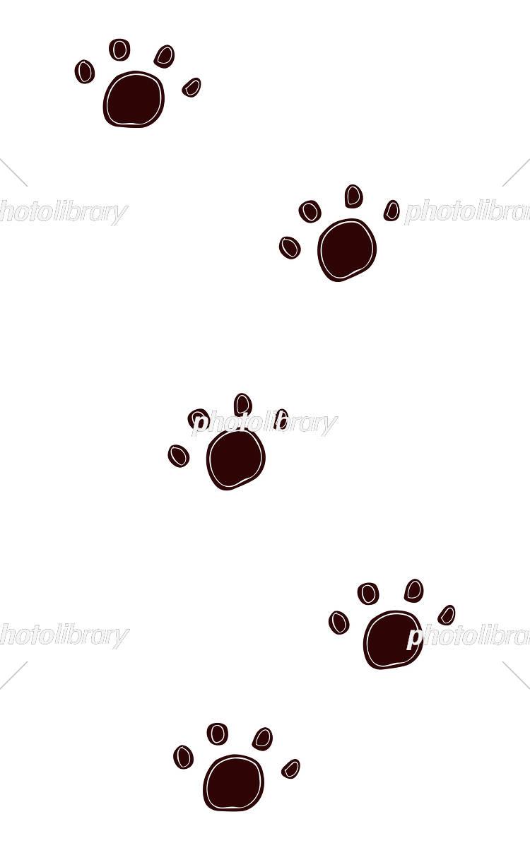 動物の足あと こげ茶色 イラスト素材 5153192 フォトライブラリー