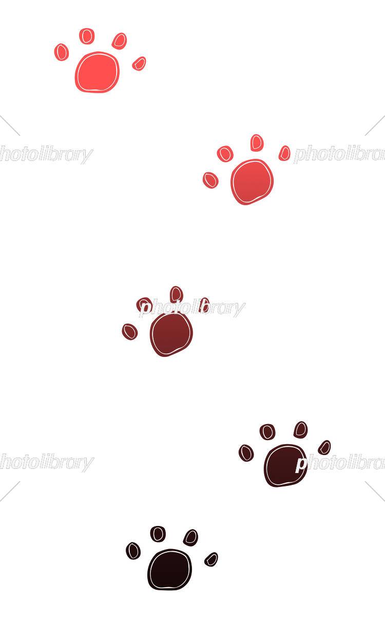 動物の足あと グラデーション イラスト素材 [ 5153193 ] - フォト