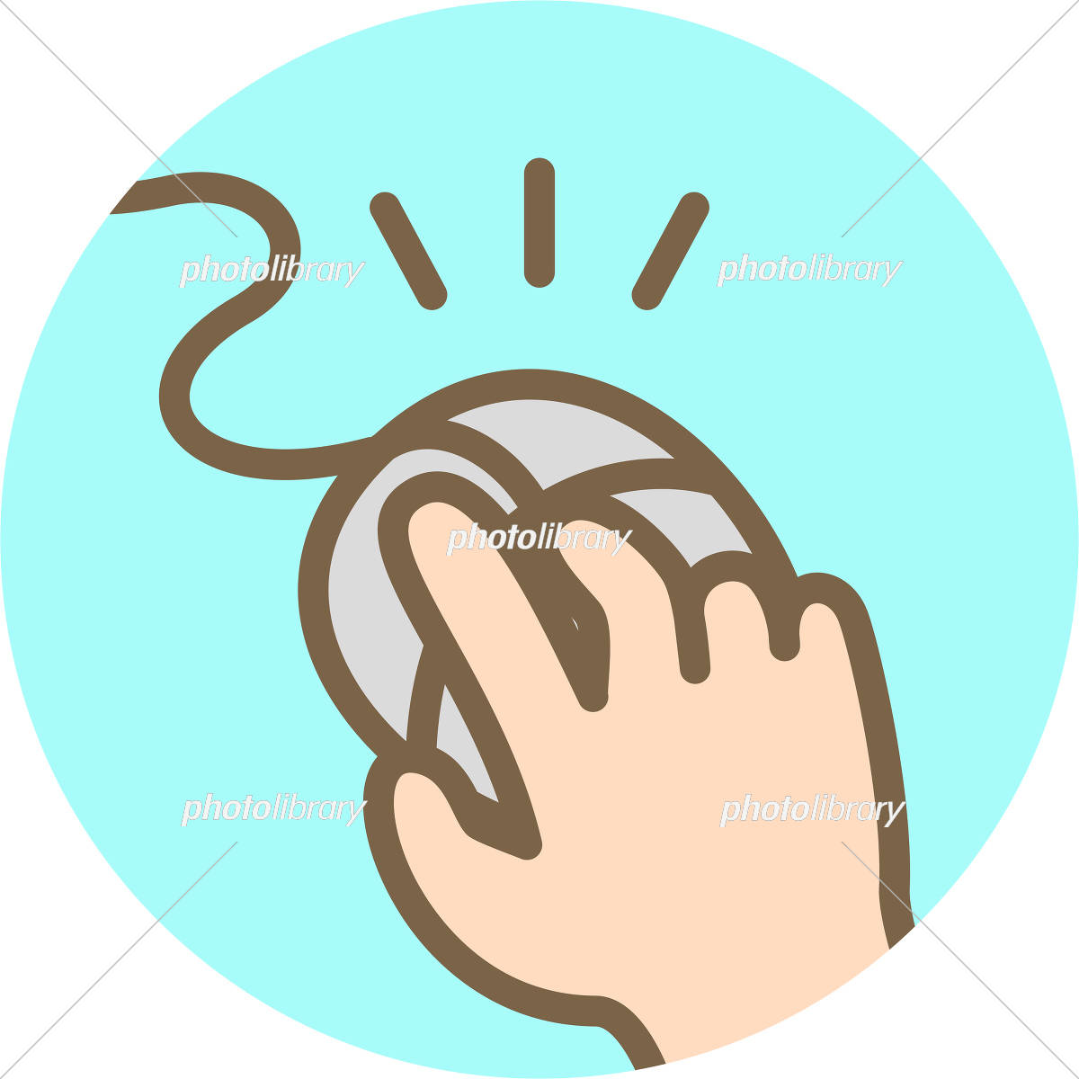 マウスをクリックする手 イラスト素材 5155201 フォトライブラリー