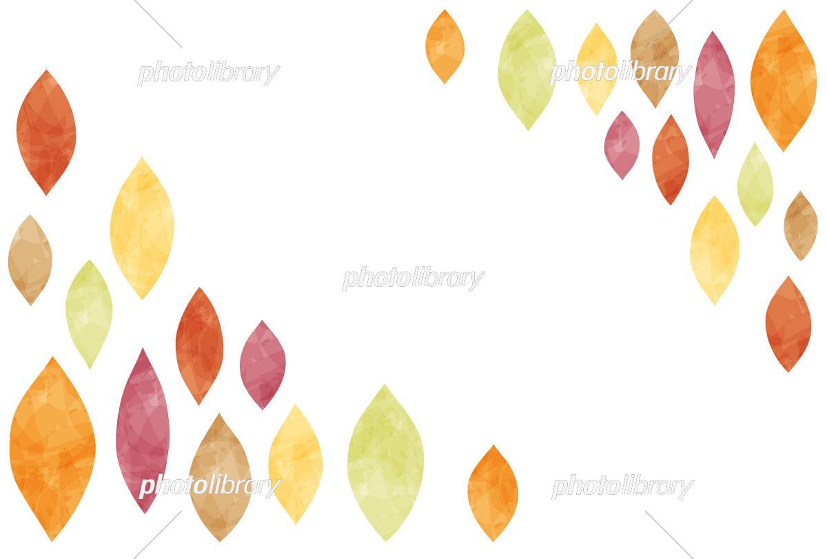 秋のフレーム/葉っぱ イラスト素材 [ 5241370 ] 無料素材- フォトライブ