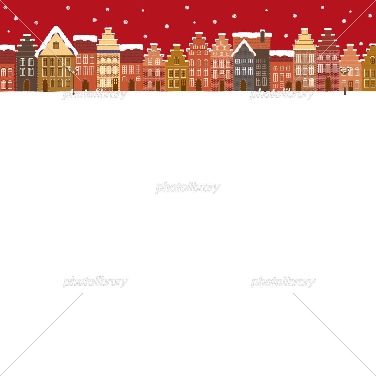 クリスマス ドイツの街並み イラスト素材 5241458 フォトライブ