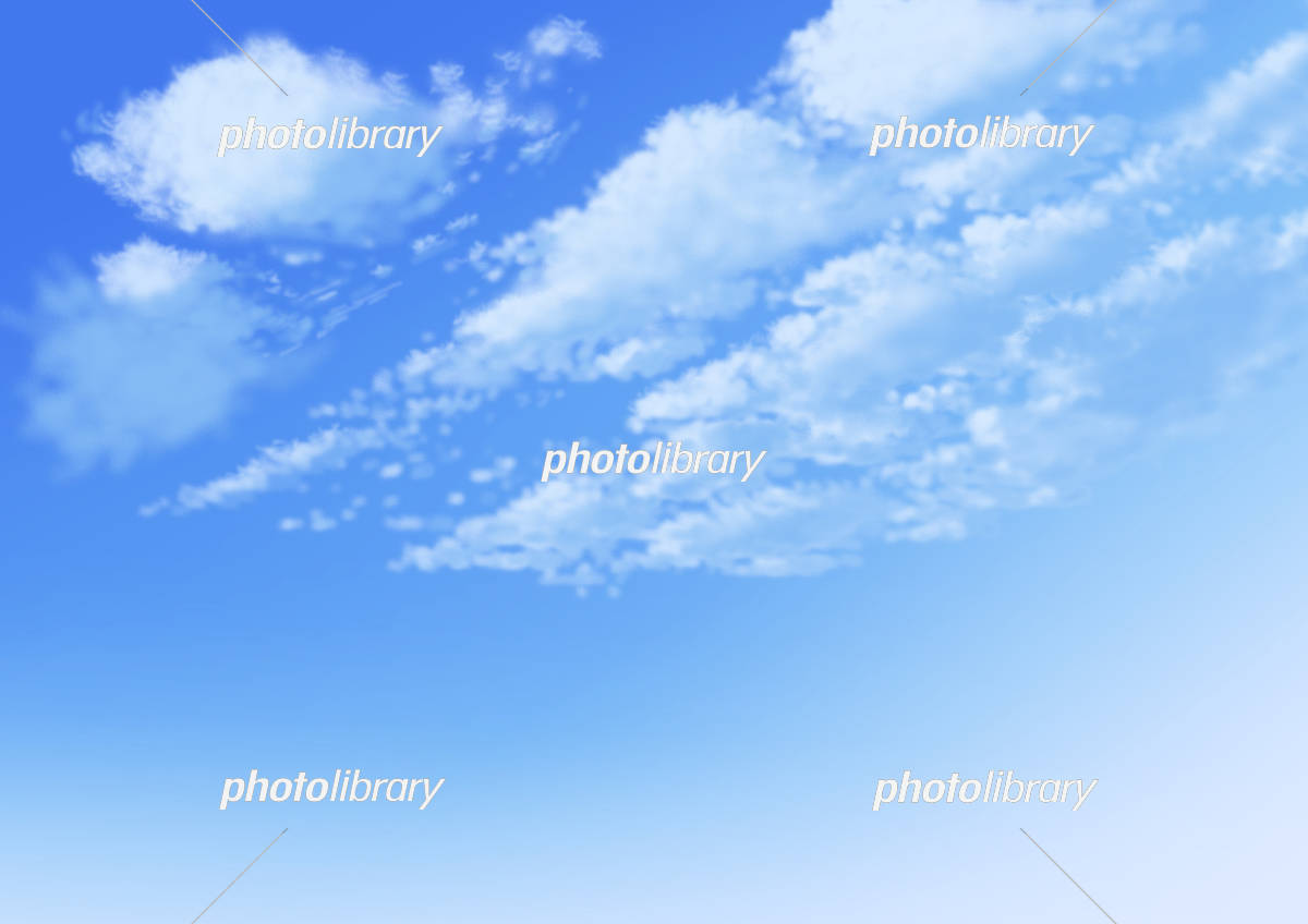 空 アニメ背景 イラスト素材 [ 5242147 ] - フォトライブラリー photolibrary