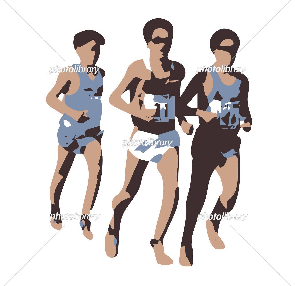 マラソン イラスト素材 5245496 フォトライブラリー Photolibrary