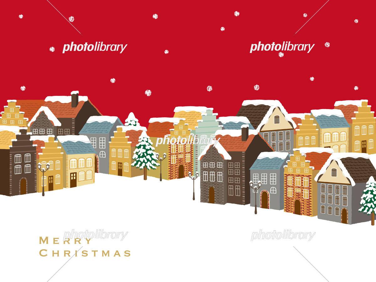 クリスマス 町並み イラスト素材 5245994 フォトライブラリー