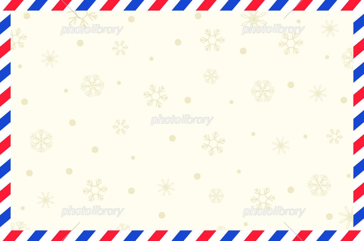エアメール 雪の結晶 イラスト素材 5250662 フォトライブラリー