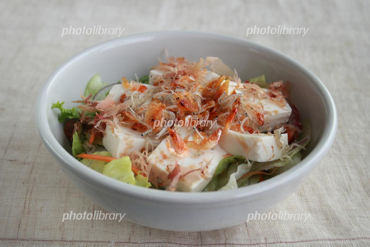 Sakura and Shigaraki's crunchy tofu salad Photo