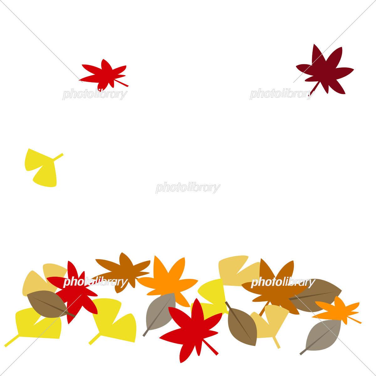 秋イメージ 落ち葉 イラスト素材 5342066 フォトライブラリー