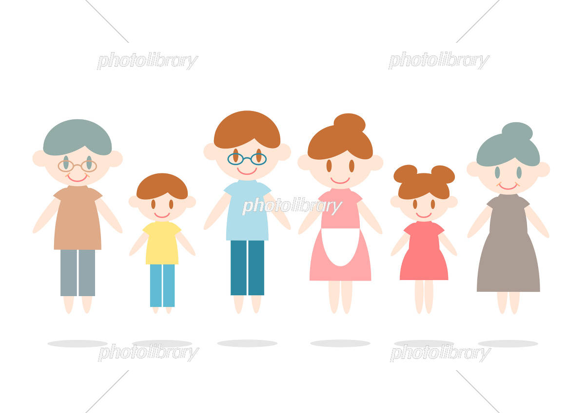 6人家族 イラスト イラスト素材 5344079 フォトライブラリー