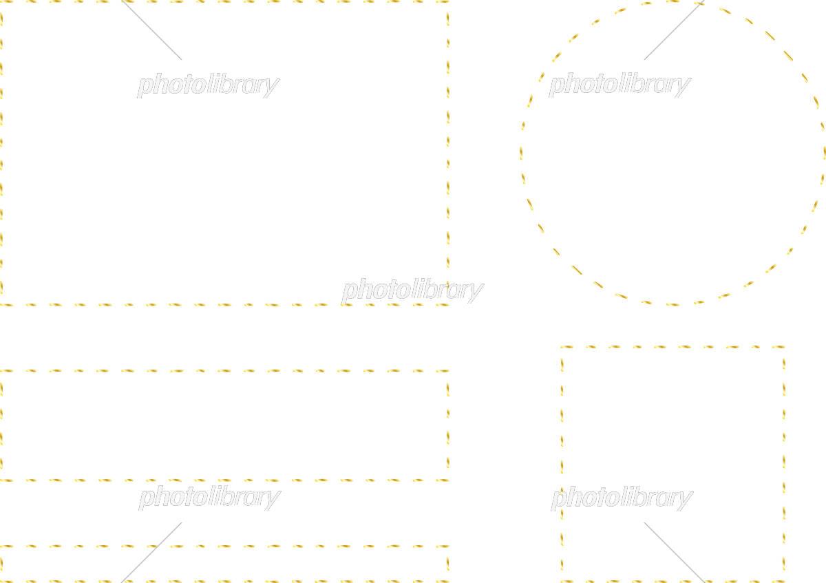 手描き フレーム セット イラスト素材 [ 5408258 ] - フォトライブ