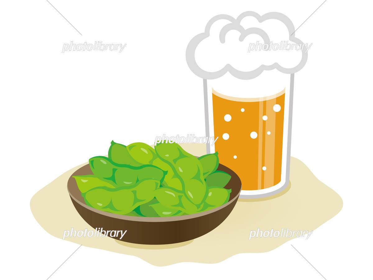 ビールと枝豆 イラスト素材 5961149 フォトライブラリー Photolibrary