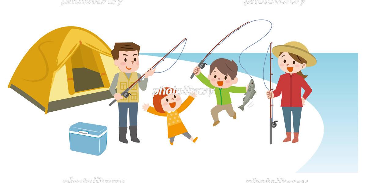 家族 魚釣り イラスト素材 5961156 フォトライブラリー Photolibrary