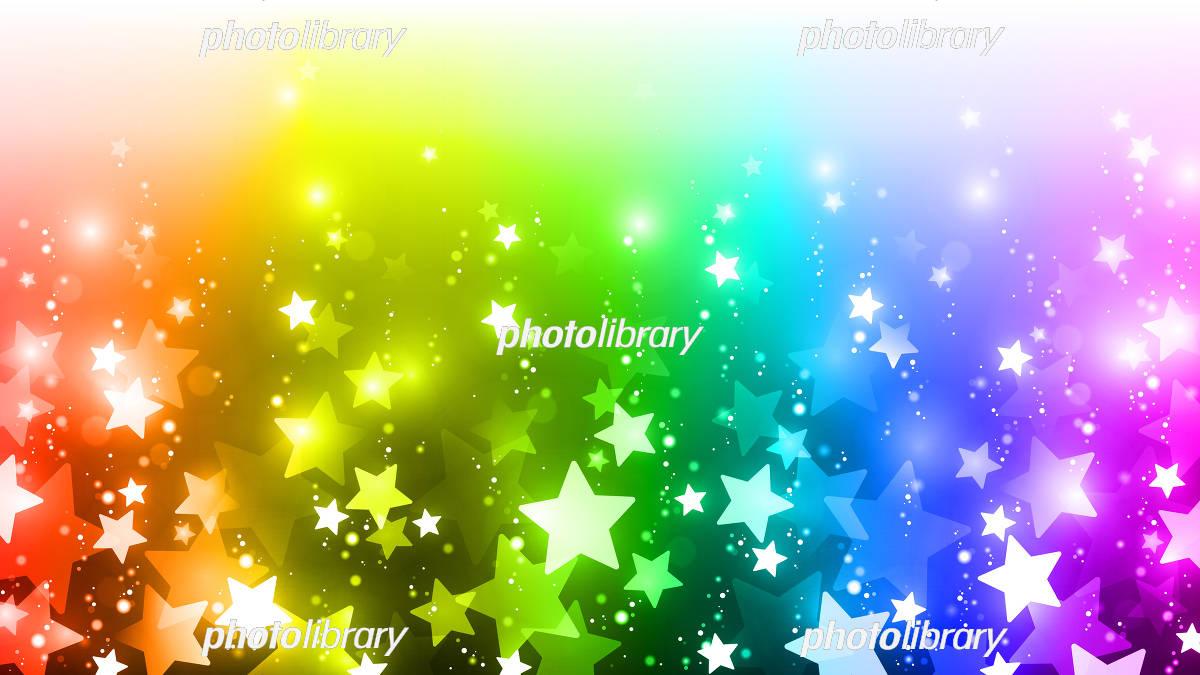 虹色 星 背景 イラスト素材 5964345 フォトライブラリー
