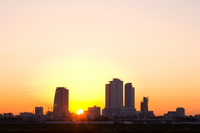 Nagoya skyscraper sunrise Stock photo [207388] Aichi