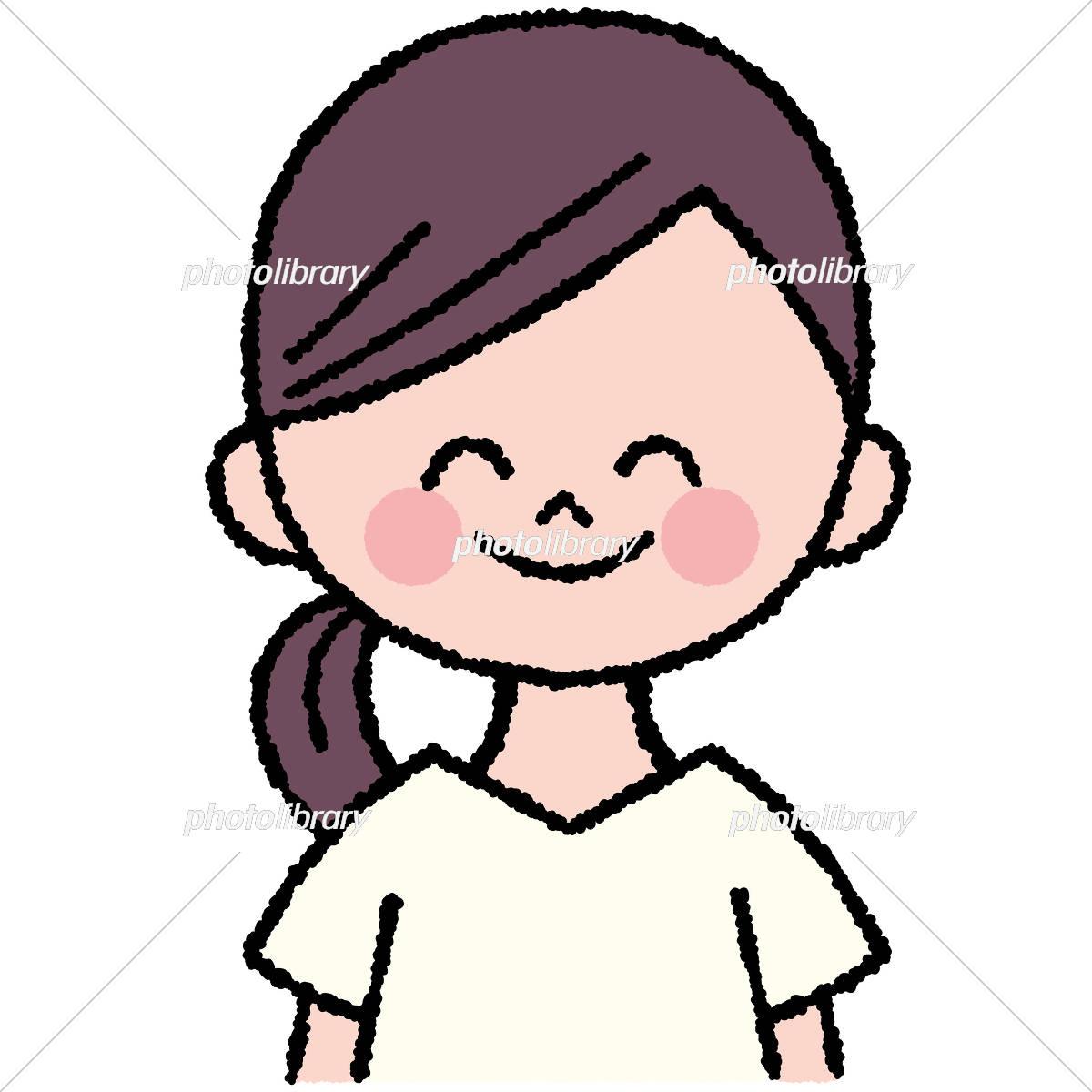 にっこり笑っている女性のイラスト イラスト素材 [ 6049996 ] - フォト ...