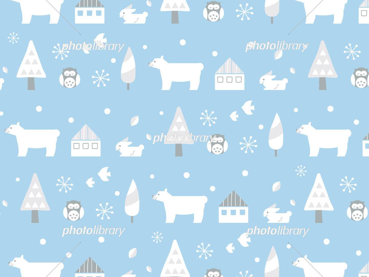 冬 背景壁紙 しろくま イラスト素材 6149742 フォトライブラリー