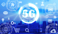 5g 高速回線テクノロジーと街並み high speed connection technology and city 5g