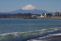 Fuji from the coast Stock photo [395433] Mt.