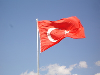 Blue sky and Turkey flag Stock photo [404857] Turkey