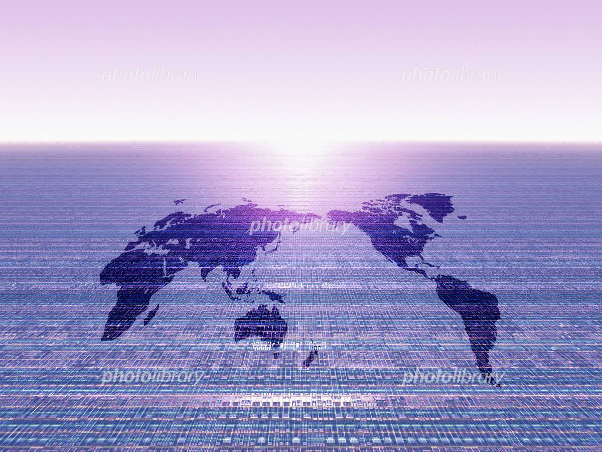 世界地図 未来のイラスト
