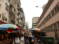 香港のマーケット の写真素材