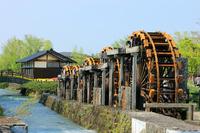 Tonami five series waterwheel Stock photo [501783] Toyama