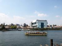 船と墨田川と桜