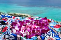 Blue sea and Hawaiian lei Stock photo [546647] Summer
