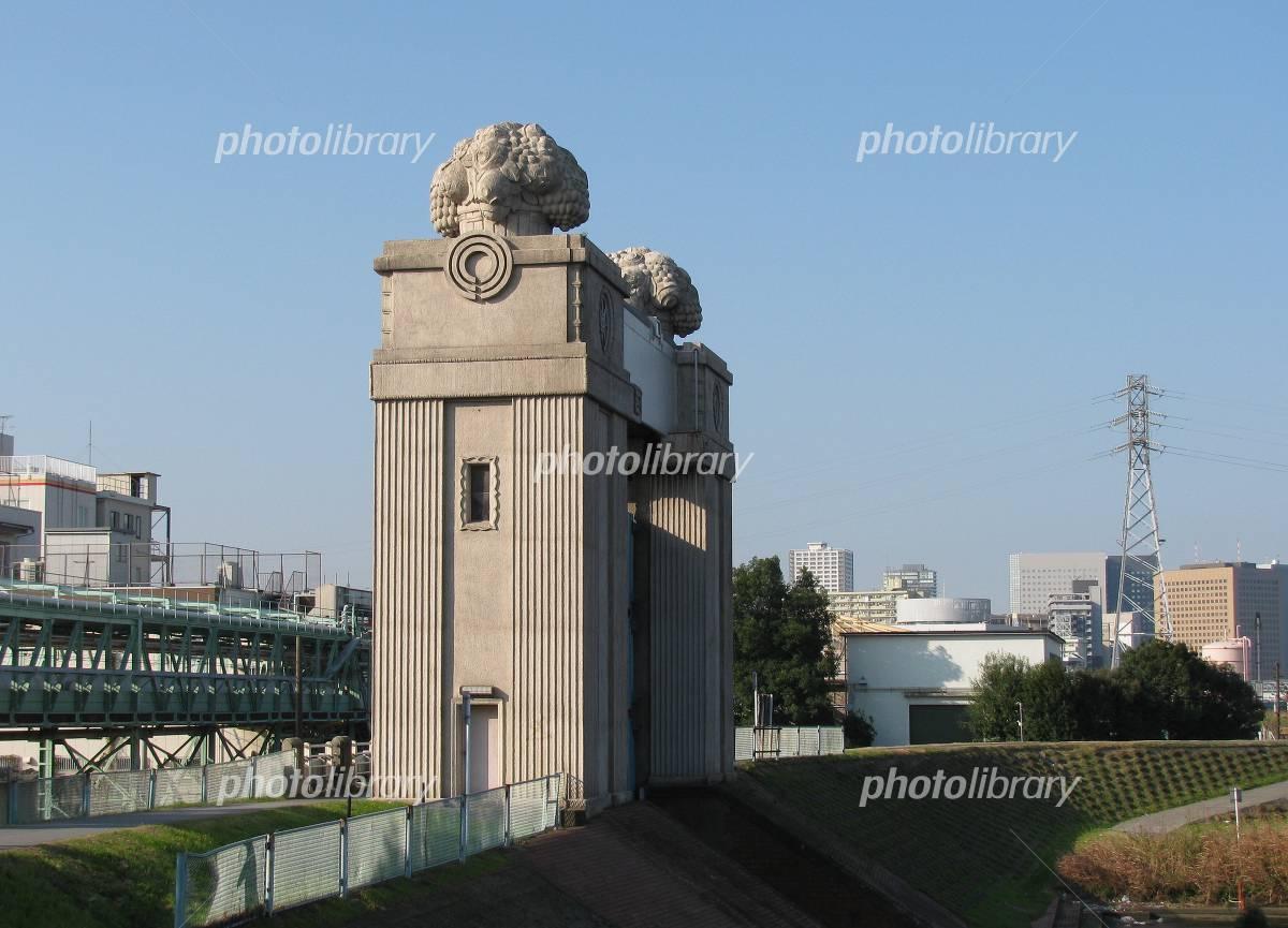 川崎河港水門 写真素材 [ 671070...