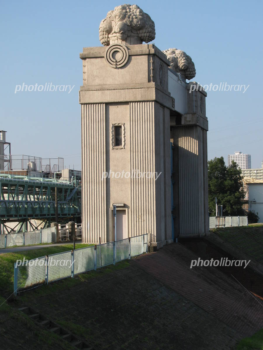 川崎河港水門 写真素材 [ 672346...