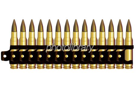 機関銃の弾 イラスト素材 [ 676474 ] - フォトライブラリー photolibrary