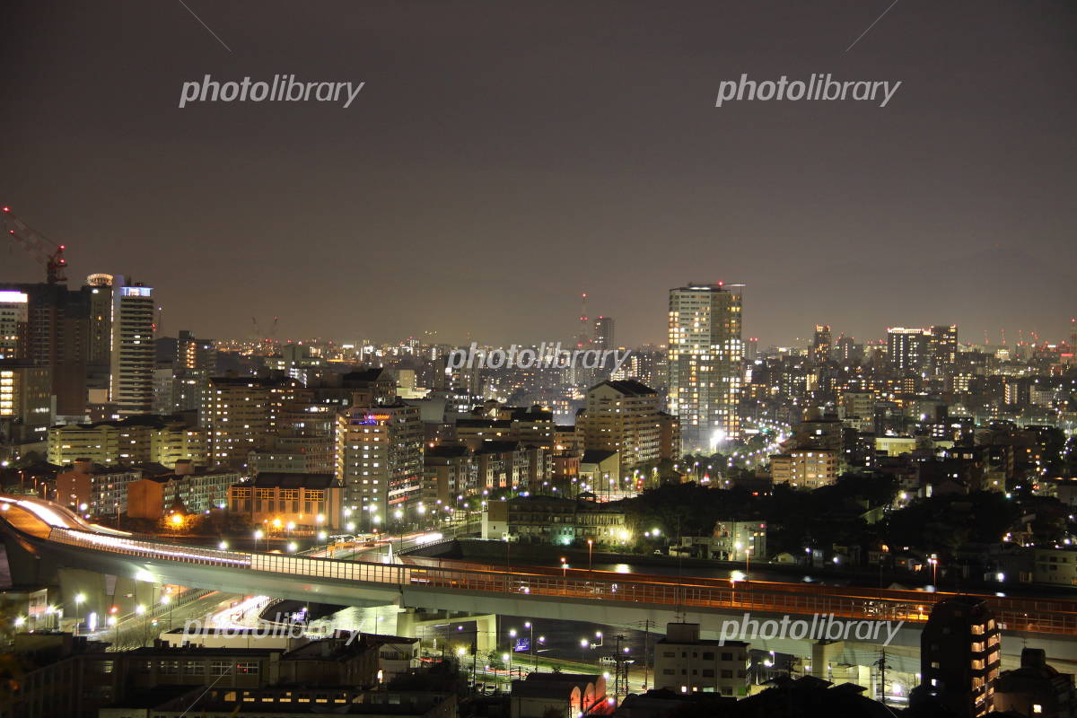 福岡都市高速の夜景-写真素材 福岡都市高速の夜景 画像ID 676603  福岡都市高速の夜景