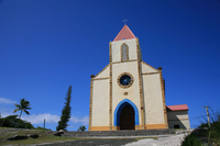 New Caledonia Ouvea impossible Island church Stock photo [675324] New