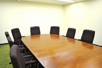 Small round table conference rooms Stock photo [913901] Conference