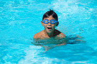 Boy to swim in the pool Stock photo [914823] Sport