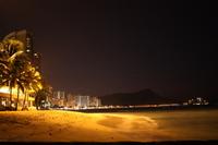 Night of Waikiki Beach Stock photo [921777] Hawaii