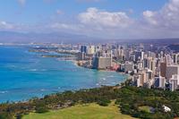Waikiki seen from Diamond Head Stock photo [921937] America