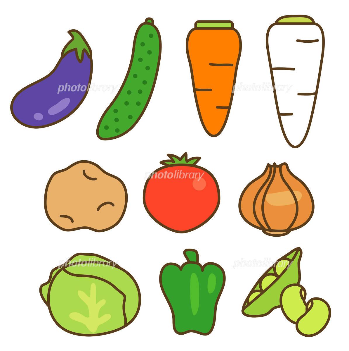 野菜 イラスト素材 1016115 フォトライブラリー Photolibrary