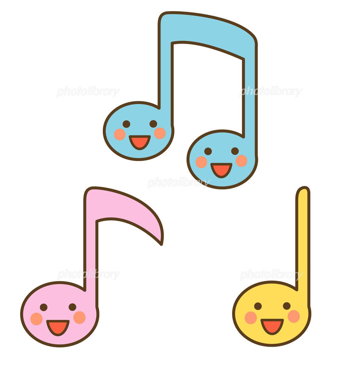 笑顔の音符 イラスト素材 1019178 フォトライブラリー Photolibrary
