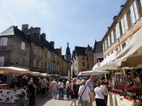 Marche of French country town Sarlat Stock photo [1015962] Sarlat